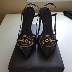 New BCMAXAZRIA Ma-Parven Black Luna Patent Shoes